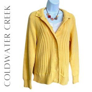 COLDWATER CREEK Ribbed Knit Cardigan, M